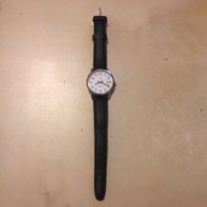 Timex watch with leather wristband